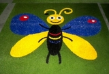 synthetic turf butterfly inlay