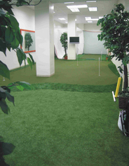 KMR school of golf artificial putting green indoors