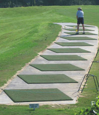 Big Island country club chipping mats