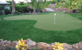 Big Island artificial turf putting green