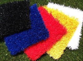 Colored synthetic turf