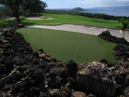 Leadbetter golf academy  synthetic putting green on Maui