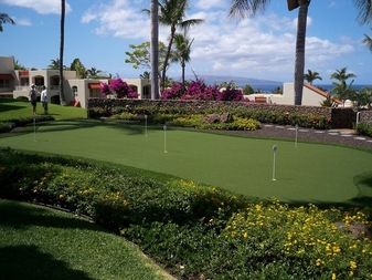 Maui Wailea Palms resident putting greens