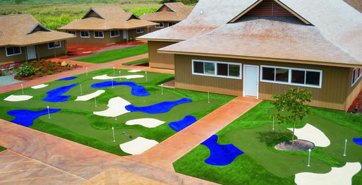 Halemano's synthetic putt putt course
